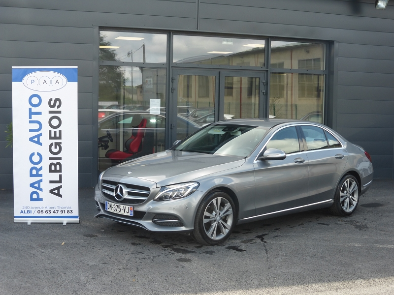 Mercedes-Benz CLASSE C (W205) 220 BLUETEC BUSINESS 7G-TRONIC PLUS Diesel ANTHRACITE Occasion à vendre